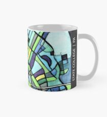 ABSTRACT MAP OF STATE COLLEGE, PA Classic Mug