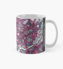 ABSTRACT MAP OF WASHINGTON, DC Classic Mug