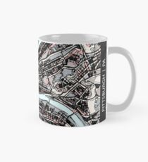 ABSTRACT MAP OF PITTSBURGH, PA Classic Mug
