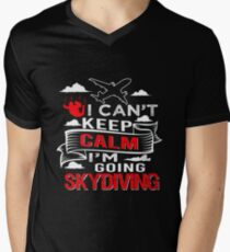 a1b552b1 Go Skydiving Sports Gift Skydive V-Neck T-Shirt