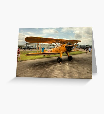 Bi-Plane in Yellow Greeting Card