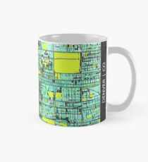 ABSTRACT MAP OF DENVER, CO Classic Mug