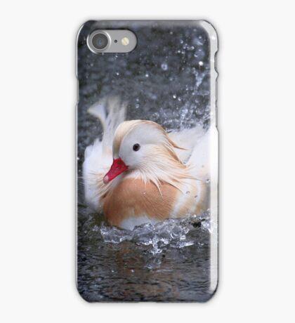 Splash - White Mandarin Duck iPhone Case/Skin