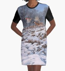 """""""Flushed Pheasants"""" - Ring-necked pheasants in flight Graphic T-Shirt Dress"""