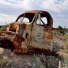 Rusted Work Beast - Lightning Ridge NSW Australia by Bev Woodman