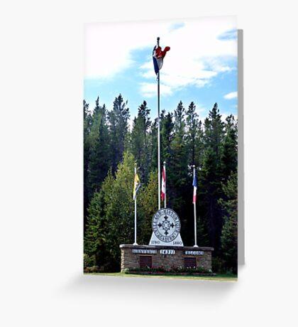 Acadian Village,Entrance Greeting Card