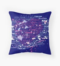 Multi-lingual Message of Love Throw Pillow