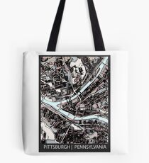 ABSTRACT MAP OF PITTSBURGH, PA Tote Bag