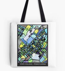 ABSTRACT MAP OF STATE COLLEGE, PA Tote Bag