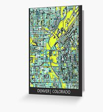 ABSTRACT MAP OF DENVER, CO Greeting Card