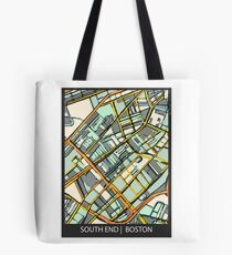 ABSTRACT MAP OF BOSTON SOUTH END Tote Bag