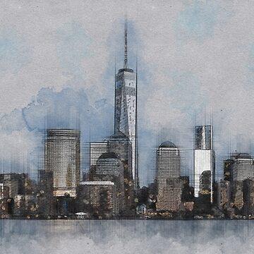 Lower Manhattan by mrthink