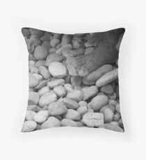 Barefeet Throw Pillow