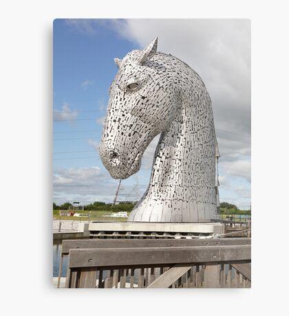 The Kelpies sculptures , Helix Park, Scotland Metal Print