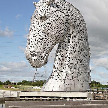 The Kelpies sculptures , Helix Park, Scotland by goldyart