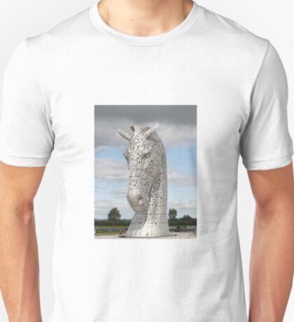 The Kelpies sculptures , Helix Park, Scotland T-Shirt