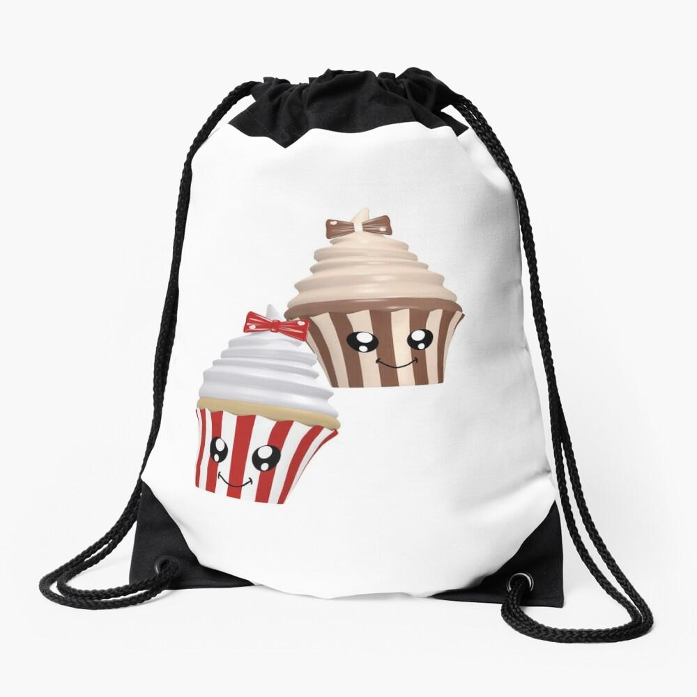 Cupcakes im Kawaii Stil Turnbeutel