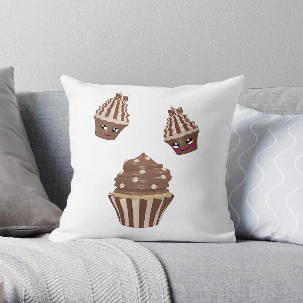 Schokoladen Cupcake Dekokissen