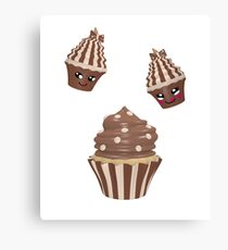 Schokoladen Cupcake Leinwanddruck