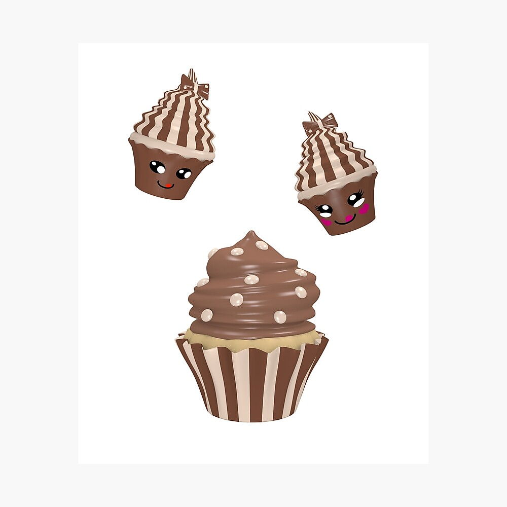 Schokoladen Cupcake Fotodruck