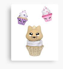 Cupcake mit Kätzchen Metalldruck