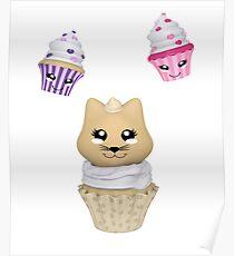 Cupcake mit Kätzchen Poster