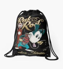 Rat Rod Gas I Drawstring Bag