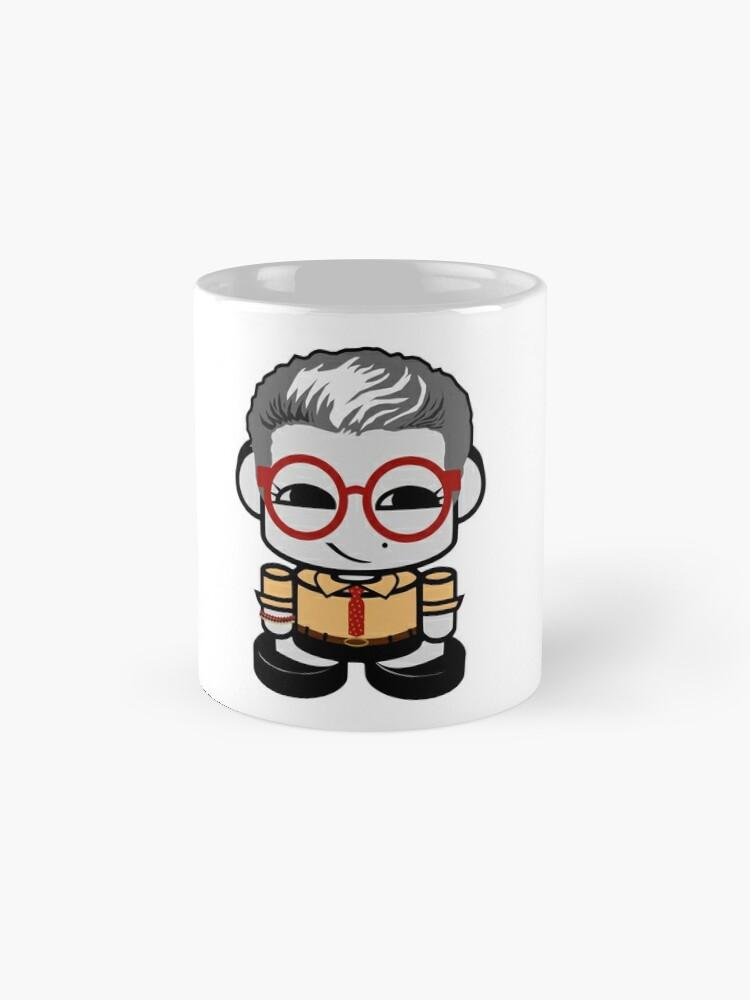 Alternate view of HERO'BOT Social Studies Teacher Mx. Tarkus Standard Mug