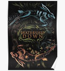 Watership Down alternative book cover Poster