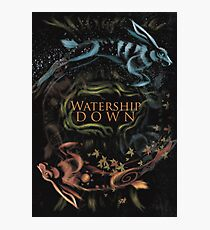 Watership Down alternative book cover Photographic Print