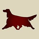 Irish Setter Running Red Vibrant Design by ISCCanada