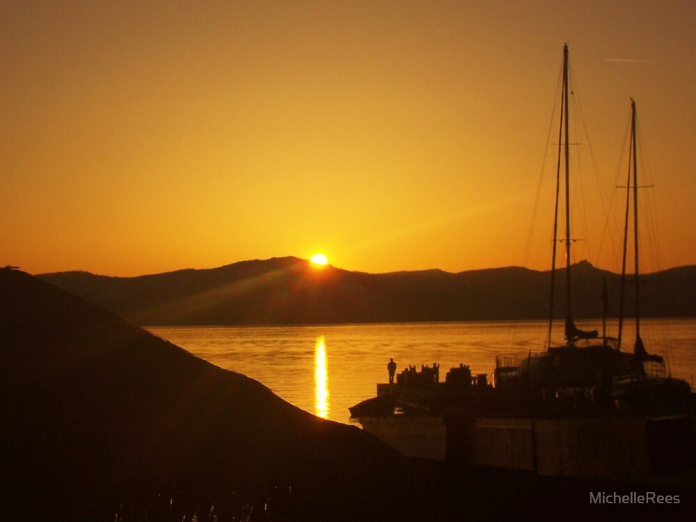 Sunset over Lake Tahoe by MichelleRees