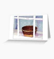 Basket #2 - Postcard Greeting Card