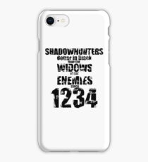 Shadowhunters: Better In Black iPhone Case/Skin