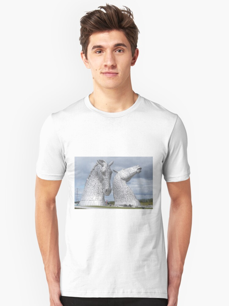 The Kelpies gifts , Helix Park, Scotland Unisex T-Shirt Front