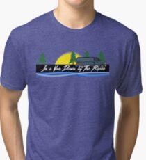 In a Van Down by The River - Matt Foley Tri-blend T-Shirt