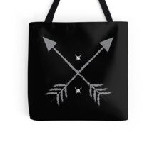 Rough arrows crossed pointing up Tote Bag