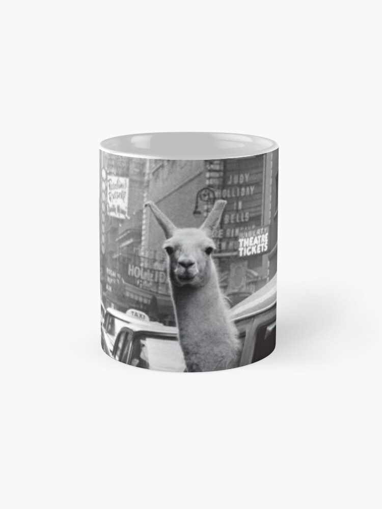 Alternate view of New York Llama Mug