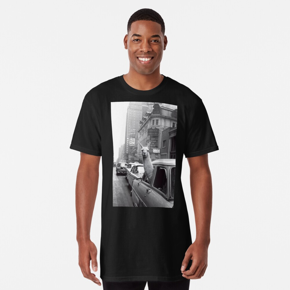 New York Llama Long T-Shirt