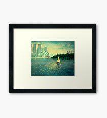 Into the Light - Sydney Harbour  Framed Print