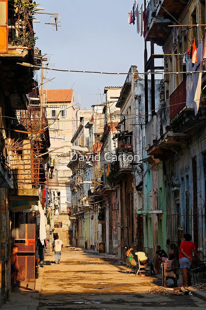 Back Street, Havana, Cuba by David Carton