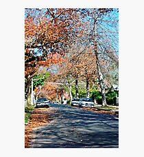 Autumn Street Photographic Print