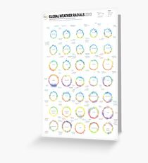 Infographic Weather Radials 2013 Greeting Card