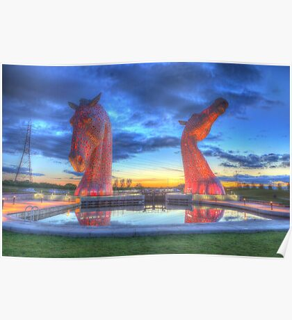 the Kelpies , Helix Park  Poster