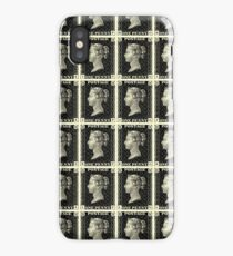 Block of Penny Black stamps iPhone Case