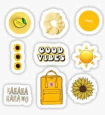 Orange yellow aesthetic sticker pack Sticker