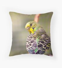 Budgerigar Throw Pillow