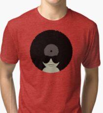 Funky Music Afro Vinyl Records Tri-blend T-Shirt