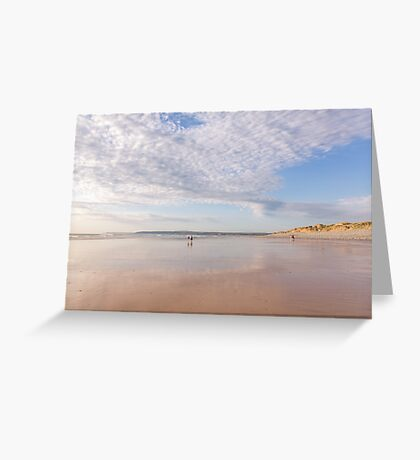 Framed by the clouds at Westward Ho! beach in North Devon, UK Greeting Card