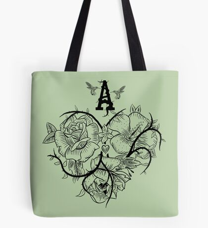 Ace of Hearts Flowers Tote Bag
